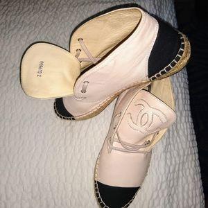 Chanel Espadrilles SZ 8 lambskin